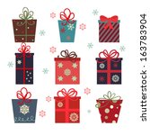 Christmas Gifts Boxes A Set Of...