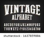 vintage alphabet font....   Shutterstock .eps vector #1637859886
