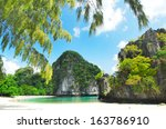 koh hong island   andaman sea   ... | Shutterstock . vector #163786910