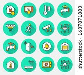 smart home icon set. flat... | Shutterstock .eps vector #1637871883