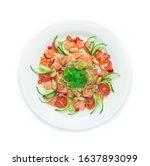 Salmon Spicy Salad  Salmon...