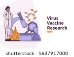 vector illustration coronavirus ... | Shutterstock .eps vector #1637917000