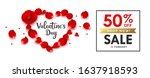 happy valentine's day rose sale ... | Shutterstock .eps vector #1637918593
