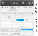 web design elements set. vector ... | Shutterstock .eps vector #163791914