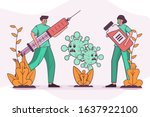 vector illustration coronavirus ... | Shutterstock .eps vector #1637922100