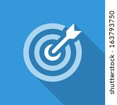 icon flat target with dart in... | Shutterstock .eps vector #163793750
