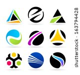 collection of abstract symbols  ... | Shutterstock .eps vector #163794428