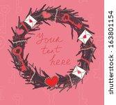 vector romantic wreath to... | Shutterstock .eps vector #163801154