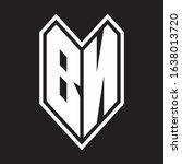 bn logo monogram with emblem...