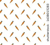 hand drawn vegetables doodle... | Shutterstock .eps vector #1638015283
