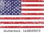 grunge old vintage usa flag | Shutterstock .eps vector #1638039073