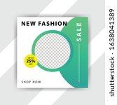 social media pack. business... | Shutterstock .eps vector #1638041389