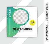social media pack. business... | Shutterstock .eps vector #1638041416