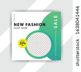 social media pack. business... | Shutterstock .eps vector #1638041446
