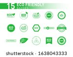 collection of eco friendly... | Shutterstock .eps vector #1638043333