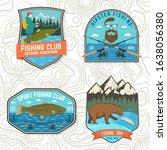 set of fishing patch. vector... | Shutterstock .eps vector #1638056380