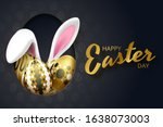 happy easter background with... | Shutterstock .eps vector #1638073003