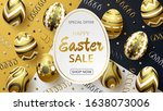 happy easter sale background... | Shutterstock .eps vector #1638073006