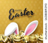 happy easter background with... | Shutterstock .eps vector #1638089293