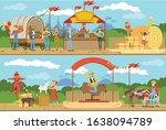 farm market  farmers selling...   Shutterstock .eps vector #1638094789