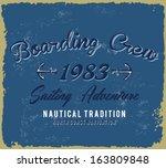 summer tropical sail print | Shutterstock .eps vector #163809848