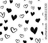 heart doodles seamless pattern. ...   Shutterstock .eps vector #1638111520