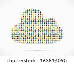 abstract cloud made out of... | Shutterstock .eps vector #163814090