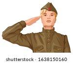 russian soldier man in retro...   Shutterstock .eps vector #1638150160