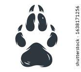 animal footprint  sole  pets...   Shutterstock .eps vector #1638171256