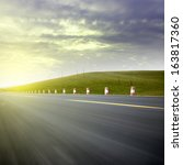 low angle speed road | Shutterstock . vector #163817360