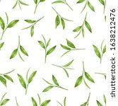 green tea leaves  young shoots... | Shutterstock . vector #1638212476