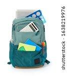 office backpack on white...   Shutterstock . vector #1638219976