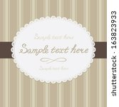 white napkin in the striped... | Shutterstock .eps vector #163823933