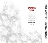 floral vector background | Shutterstock .eps vector #163825103