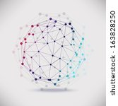 abstract geometric lattice  the ... | Shutterstock . vector #163828250