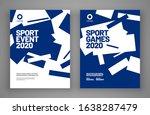 poster layout design for sport...   Shutterstock .eps vector #1638287479