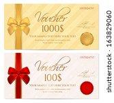 voucher  gift certificate ... | Shutterstock .eps vector #163829060