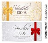 voucher  gift certificate ... | Shutterstock .eps vector #163829063