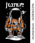 astronaut basket ball player... | Shutterstock .eps vector #1638362296