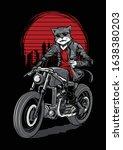 cat rider motorbike... | Shutterstock .eps vector #1638380203