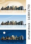 panorama of the big city. this... | Shutterstock .eps vector #163841750