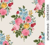 seamless vector pattern with... | Shutterstock .eps vector #163843334