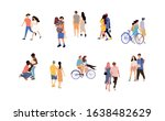 happy romantic couples and... | Shutterstock .eps vector #1638482629