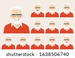 handsome senior man with... | Shutterstock .eps vector #1638506740