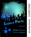 grunge border poster for disco...   Shutterstock .eps vector #163851560