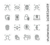 biometric related icons  thin... | Shutterstock .eps vector #1638526459