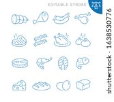 food related icons. editable... | Shutterstock .eps vector #1638530776