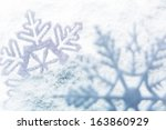 white snowflake holiday... | Shutterstock . vector #163860929