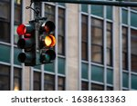 Traffic Light With Red Light...