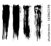 vector set of grunge brush... | Shutterstock .eps vector #163862198